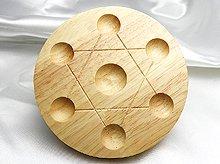 七星盤|木製・足付き|直径100mm