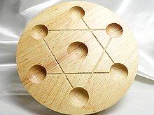 七星盤|木製・足付き|直径120mm