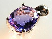 宝石質カラーチェンジフローライト|オーバルカット 12×10mm|ビンガム産|Sliver925ペンダントトップ