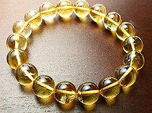 【訳あり特価】宝石質シトリン|左水晶 10.5mm玉|左手用ブレスレット