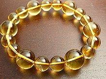 宝石質シトリン|左水晶 9mm&12mm玉|左手用デザインブレスレット
