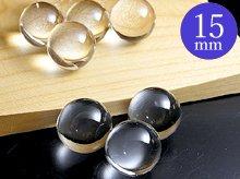 日本製無垢水晶玉|左水晶 15mm玉|天然スパイラル水晶
