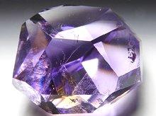 宝石質アメシスト|ファントム&レインボー入り|ランダムカット 29.5g|ボリビア産|No.2