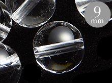 9mmラウンドビーズ|天然スパイラル水晶|ブラジル産クリアクォーツ|粒売り