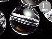 11mmラウンドビーズ|天然スパイラル水晶|ブラジル産クリアクォーツ|粒売り