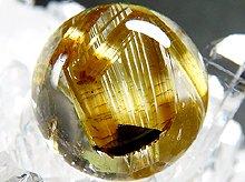 太陽タイチン|最上級母岩入りゴールドルチルクォーツ|9.5mm 右水晶 No.4|スパイラル水晶|粒売り