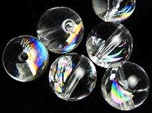 アイリスクォーツ(天然レインボー水晶)|ラウンド8mm|左水晶・右水晶|粒売り