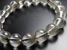一番波動が高い!プラチナルチルクォーツ|双晶 10mm玉|天然スパイラル水晶|左右兼用ブレスレット|No.7