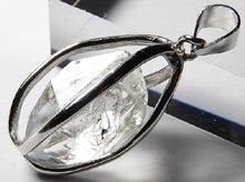 ハーキマーダイヤモンド|水入り&タイムリンク(過去)|Silver925枠ペンダントトップ|No.9