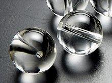 ガネッシュヒマール産ヒマラヤ水晶|左水晶・右水晶|ラウンド12mm|粒売り