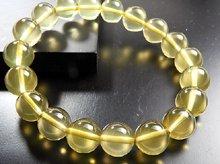 スターレモンクォーツ|右水晶 11mm玉|右手用ブレスレット|ブラジル産