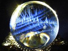 高品質エンジェルラダークォーツ No.36|日本製無垢水晶玉|右水晶 15mm|天然スパイラル水晶
