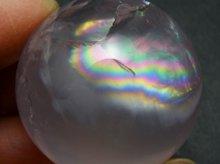 大きな虹!スターローズクォーツ|丸玉 35mm|マダガスカル産