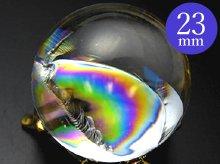 左水晶|最上級レインボー水晶玉 23.6mm No.66|天然スパイラル水晶
