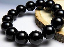 チベット産黒水晶(モリオン)|左水晶 14mm玉|左手用ブレスレット