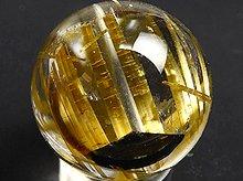 太陽タイチン|最上級母岩入りゴールドルチルクォーツ|9.4mm 右水晶 No.6|スパイラル水晶|粒売り