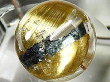 太陽タイチン|最上級母岩入りゴールドルチルクォーツ|9mm 右水晶 No.12|スパイラル水晶|粒売り