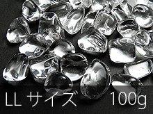 高品質AAA透明水晶さざれ|LLサイズ|100g