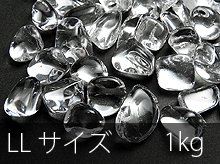 高品質AAA透明水晶さざれ|LLサイズ|1kg