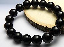 チベット産黒水晶(モリオン)|右水晶 12mm玉|右手用ブレスレット