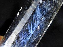 エンジェルラダークォーツ|天然水晶六角柱ポイント|160mm 153g|専用台座付き No.42