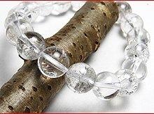 ヒマラヤエレスチャルクォーツ|右水晶 10mm|右手用ブレスレット|天然スパイラル水晶