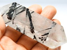 ブラックトルマリン in クォーツ|天然水晶ワンド|85mm 78.4g