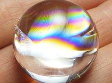 最上級アイリスクォーツ(天然レインボー水晶) 右水晶 ラウンド カボション 24mm No.1