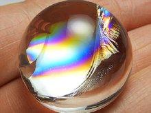 最上級アイリスクォーツ(天然レインボー水晶)|右水晶|ラウンド カボション 24mm|No.2