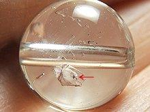 水入り水晶|12mm|双晶 No.2|粒売りビーズ