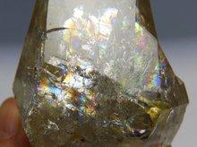 ハーキマーダイヤモンド大型結晶|ゴールデンヒーラー、レインボー、キークリスタル|アメリカ産|174g|No.15