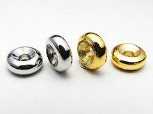 メタルパーツ(ロンデル)|ドーナツ|シルバー、ゴールド|粒売り