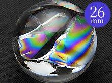 双晶|最上級レインボー水晶玉 26mm No.73|天然スパイラル水晶