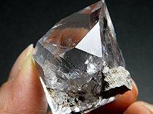 ハーキマーダイヤモンド大型結晶|レインボー、タイムリンク|アメリカ産|33.4g|No.17