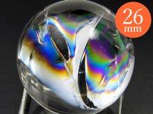 右水晶|最上級レインボー水晶玉 26.2mm No.74|天然スパイラル水晶