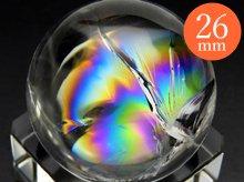 右水晶|最上級レインボー水晶玉 25.8mm No.75|天然スパイラル水晶