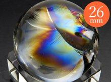 右水晶|最上級レインボー水晶玉 26.5mm No.76|天然スパイラル水晶