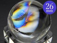 左水晶|最上級レインボー水晶玉 25.9mm No.77|天然スパイラル水晶