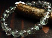 エメラルドグリーンファントムクォーツ|マダガスカル産|10mm玉 左水晶|左手用ブレスレット No.1