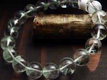 エメラルドグリーンファントムクォーツ|マダガスカル産|10mm玉 右水晶|右手用ブレスレット No.2