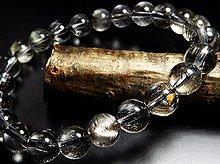 プラチナルチルクォーツ|左水晶 8mm玉|天然スパイラル水晶|左手用ブレスレット