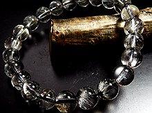 プラチナルチルクォーツ|双晶 12mm玉|天然スパイラル水晶|左右兼用ブレスレット|No.4