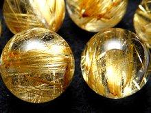 高品質ゴールドルチルクォーツ|天然スパイラル水晶|10mm|粒売りビーズ