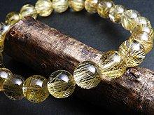 宝石質ゴールドルチルクォーツ|双晶 8mm玉|スパイラル水晶|左右兼用ブレスレット