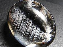 宝石質プラチナルチルクォーツ 双晶 カボション 15.3mm 11.5ct No.3