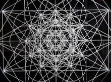 神聖幾何学クリスタルグリッドボード|セイクリッドフラワー|アクリル製|Sサイズ(10cm)