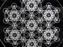 神聖幾何学クリスタルグリッドボード|メタトロンキューブ(ex4)|アクリル製|Sサイズ(10cm)