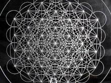 神聖幾何学クリスタルグリッドボード|メタトロンキューブ(ex1)|アクリル製|Lサイズ(20cm)