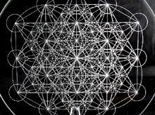 神聖幾何学クリスタルグリッドボード|メタトロンキューブ(ex2)|アクリル製|Lサイズ(20cm)