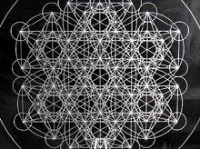 神聖幾何学クリスタルグリッドボード|メタトロンキューブ(ex3)|アクリル製|Lサイズ(20cm)